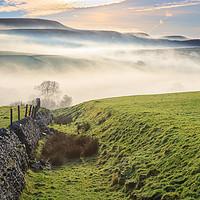 Buy canvas prints of Derbyshire Peak District- MIsty morning by Chris Warham