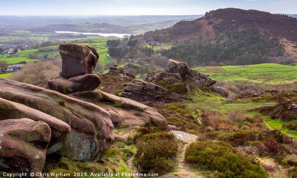 Ramshaw Rocks and Hen Cloud - Peak District Canvas print by Chris Warham