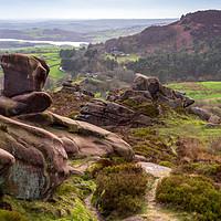 Buy canvas prints of Ramshaw Rocks and Hen Cloud - Peak District by Chris Warham