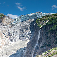 Buy canvas prints of Argentiere glacier, Chamonix by Chris Warham