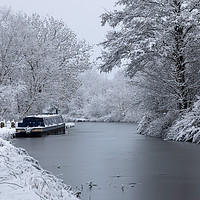 Buy canvas prints of Macclesfield Canal in winter by Chris Warham
