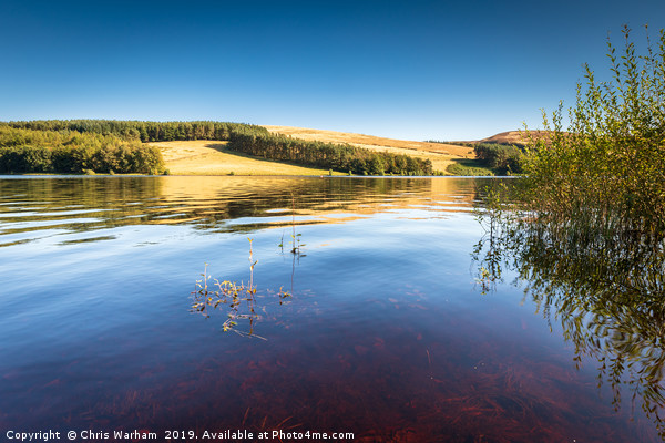 Errwood Reservoir - Goyt Valley, Derbyshire Canvas print by Chris Warham