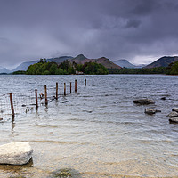 Buy canvas prints of Derwentwater Lake district - stormy day by Chris Warham