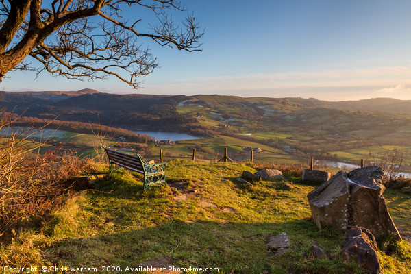 Teggs Nose, Macclesfield viewpoint Canvas print by Chris Warham