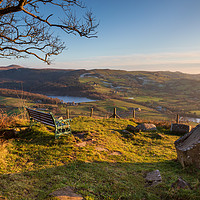 Buy canvas prints of Teggs Nose, Macclesfield viewpoint by Chris Warham