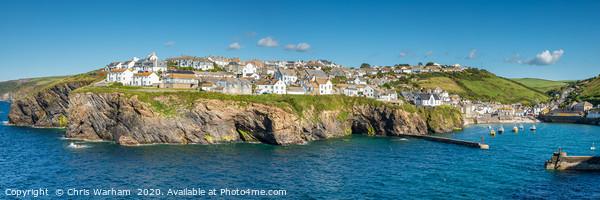 Port Isaac Cornwall Panorama Acrylic by Chris Warham