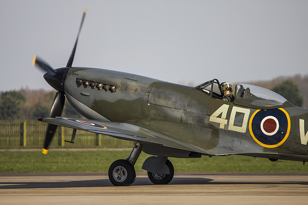 Spitfire Flight Canvas Print by Andrew Crossley