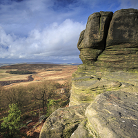 Buy canvas prints of  Stanage Edge by Philip Durkin CPAGB