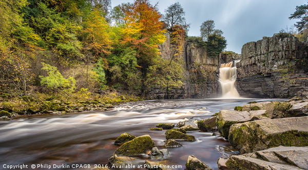 Autumn at High Force Waterfall Canvas print by Philip Durkin CPAGB
