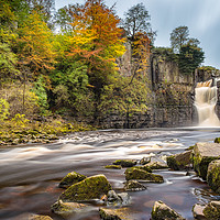 Buy canvas prints of Autumn at High Force Waterfall by Philip Durkin CPAGB