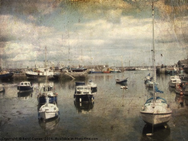 Boats in the harbour. Brixham  Canvas print by Beryl Curran