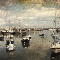 Buy canvas prints of Boats in the harbour. Brixham  by Beryl Curran