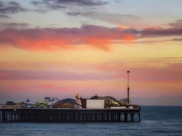 End of the pier Brighton  Canvas print by Beryl Curran