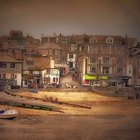 Buy canvas prints of St Ives Harbour beach by Beryl Curran
