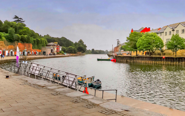 Exeter Quay  Canvas Print by Beryl Curran