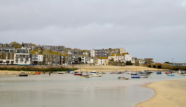 Beautiful St Ives Framed Mounted Print by Beryl Curran