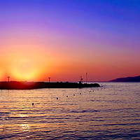 Buy canvas prints of Sunset in Crete by Beryl Curran