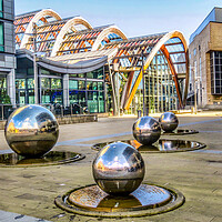 Buy canvas prints of Winter Gardens. Millennium Square Sheffield  by Beryl Curran