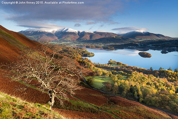Autumnal Lakeland, Cumbria, England.  Canvas print by John finney