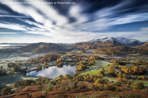 Loughrigg timeless. Lake District. Canvas print by John finney