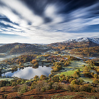 Buy canvas prints of Loughrigg timeless. Lake District. by John finney