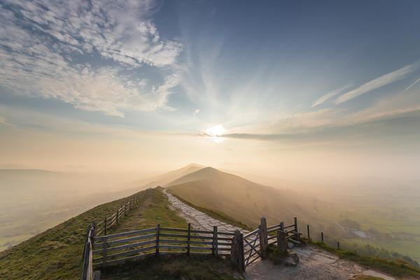 The Great Ridge sunrise. Canvas print by John finney