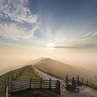 Buy canvas prints of The Great Ridge sunrise. by John finney