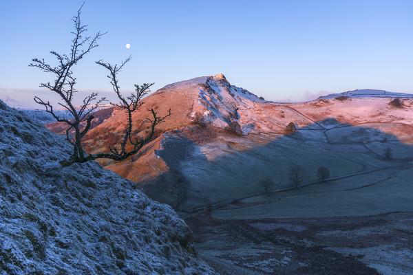 Chrome Hill Winter sunrise Canvas print by John finney