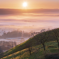 Buy canvas prints of Hope valley Spring sunrise  by John finney