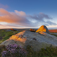 Buy canvas prints of Higgor Tor sunrise, Hathersage  by John Finney