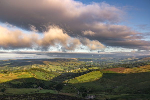 The Rolling Hills of the Peak District Framed Print by John Finney