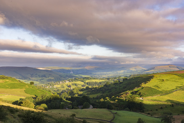The Rolling Hills of the Peak District  Canvas Print by John Finney