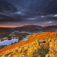 Buy canvas prints of Great Langdale in Red, Lake District by John Finney
