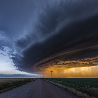 Buy canvas prints of Mothership Thunderstorm over Colorado by John Finney
