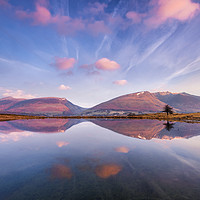 Buy canvas prints of Blencathra reflecting in Tewit Tarn at sunrise by John Finney