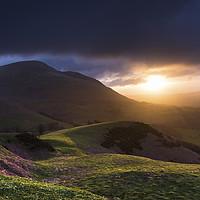 Buy canvas prints of Blencathra sunrise from Latrigg, Lake District by John Finney
