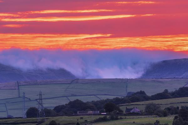 Kinder Scout September sunrise Acrylic by John Finney