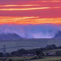 Buy canvas prints of Kinder Scout September sunrise by John Finney
