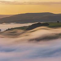 Buy canvas prints of Castleton September Mists. Peak District by John Finney