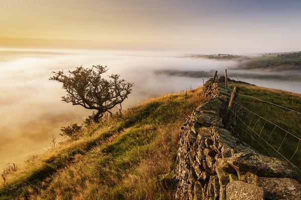 Hollins Hill sunrise, Peak District Acrylic by John Finney