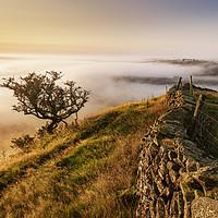 Buy canvas prints of Hollins Hill sunrise, Peak District by John Finney