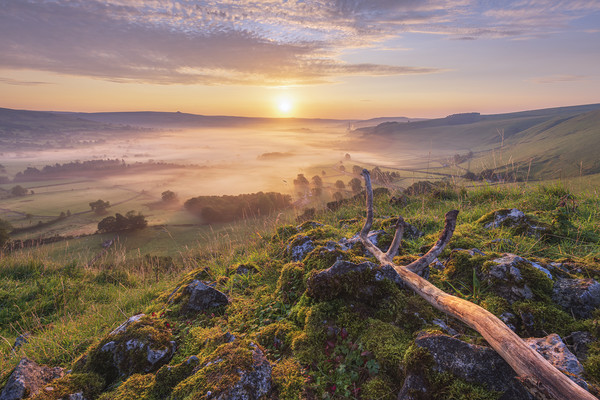 British landscape in the Peak District Acrylic by John Finney