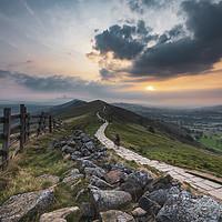 Buy canvas prints of The Great Ridge September sunrise. by John Finney