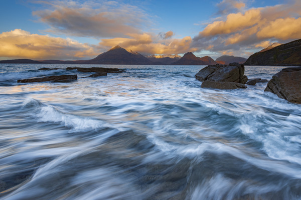 Elgol to The Cullins Framed Mounted Print by John Finney