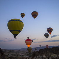 Buy canvas prints of  Balloons over Cappadocia by Glyn Wade