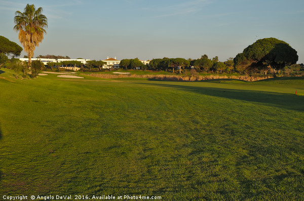 Golf course Scenics in Quinta do Lago Canvas print by Angelo DeVal