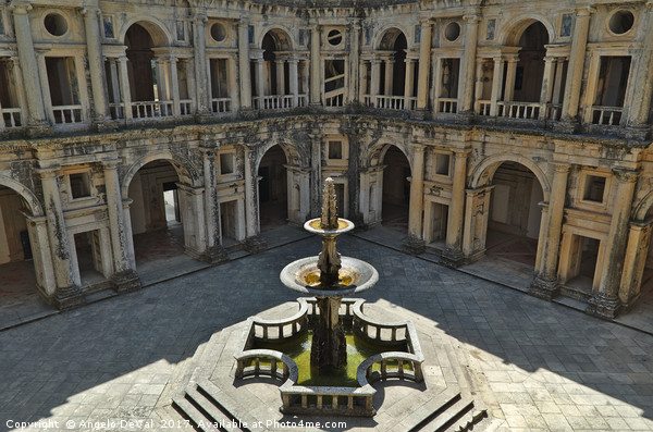 Fountain in the Convent of Christ. Tomar, Portugal Acrylic by Angelo DeVal
