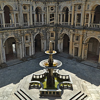 Buy canvas prints of Fountain in the Convent of Christ. Tomar, Portugal by Angelo DeVal