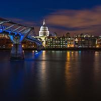 Buy canvas prints of Blue hour in London by Beata Aldridge