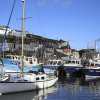 Buy canvas prints of  Mevagissey Cornwall by Leslie Dwight